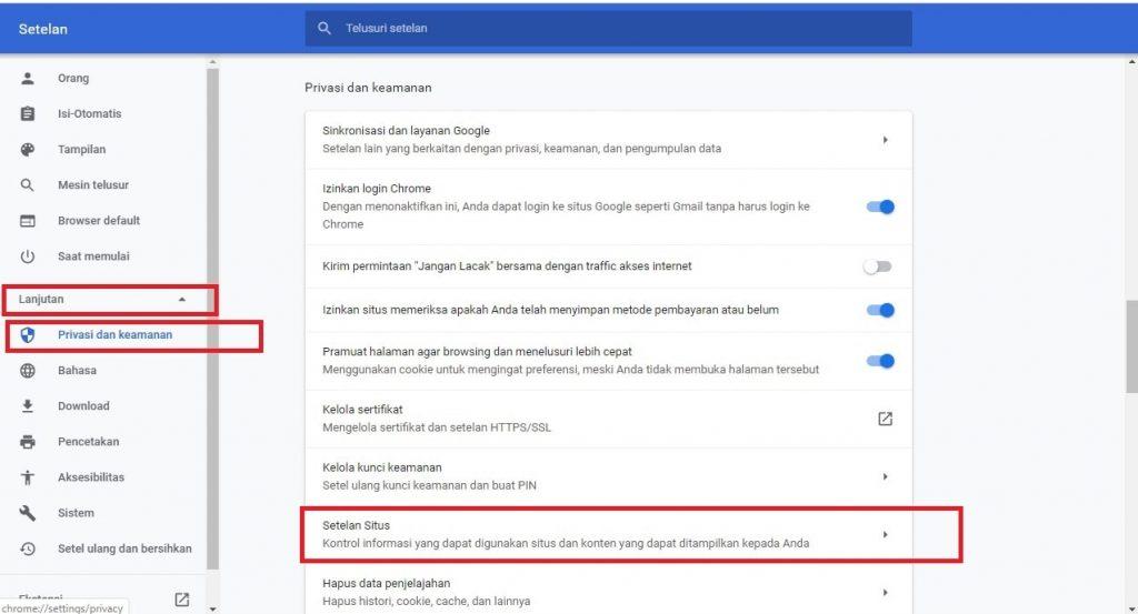 Cara Menghilangkan Notif Iklan Di Google Chrome PC