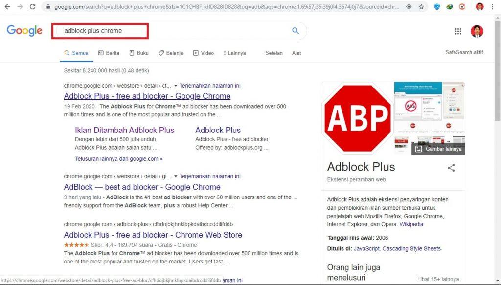 Cara Menghindari Notif Iklan Spam di Browser Chrome Pc