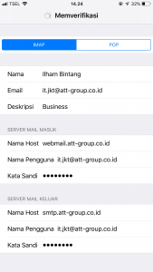 Cara Setting Email IMAP SMTP POP3 Di Iphone