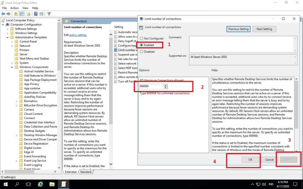 Cara Setting Multi User Remote Desktop Di Windows Server 2016