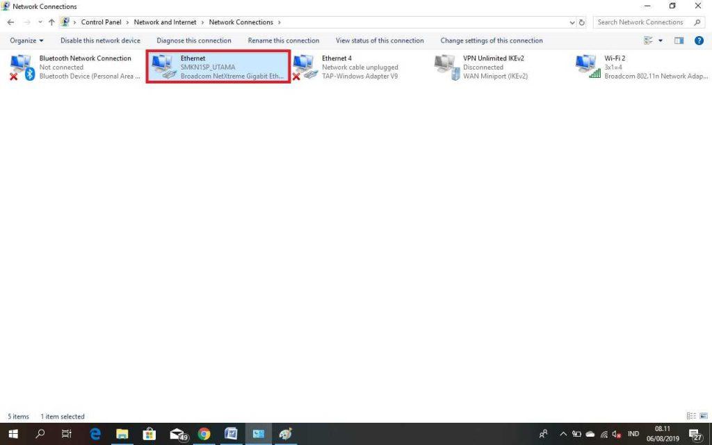 CARA MENGATASI UNIDENTIFIED NETWORK PADA WINDOWS 7,8,10