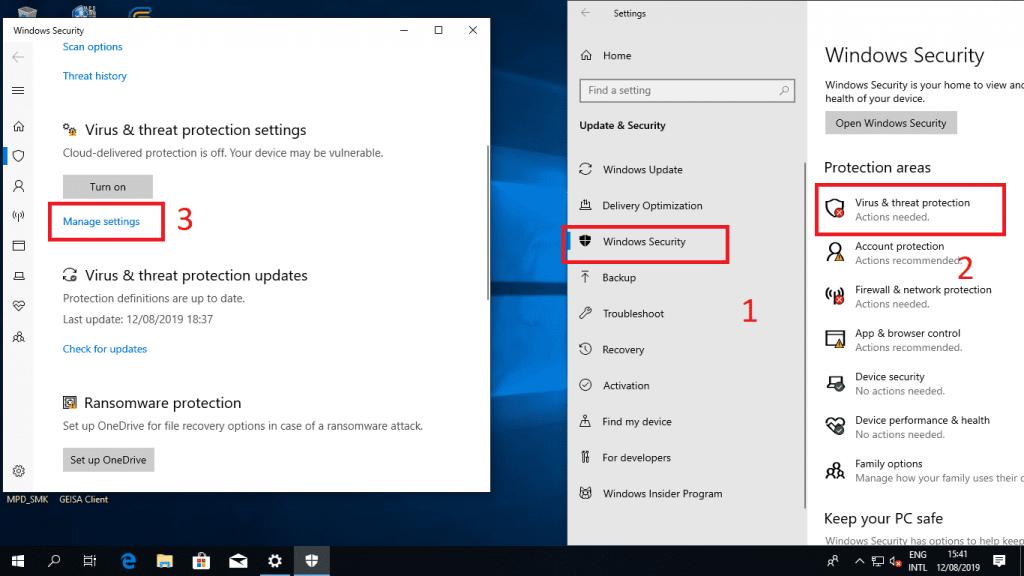 Cara Mematikan Windows Defender di Windows 10 Untuk Sementara