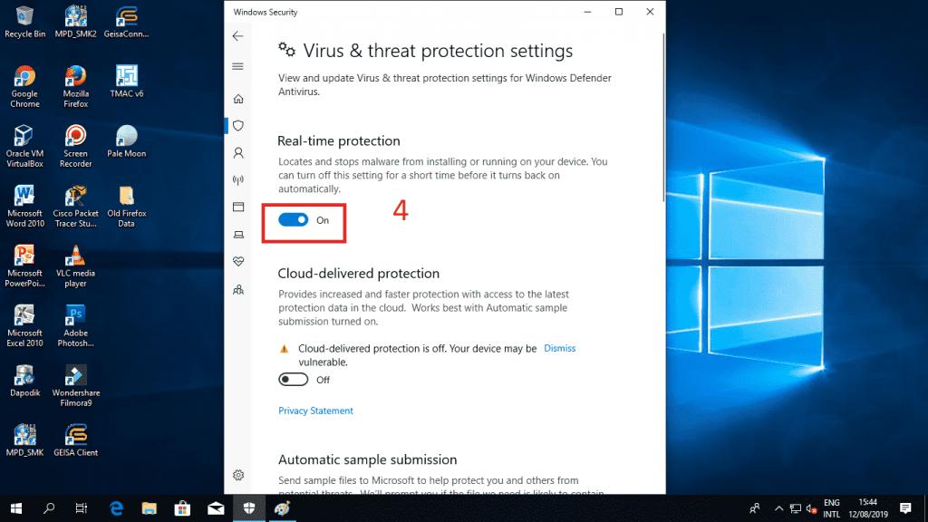 Cara Menonaktifkan Windows Defender Untuk Sementara