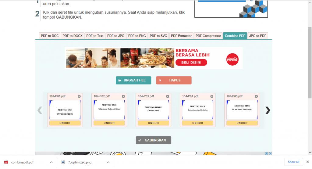 Cara Combine File PDF