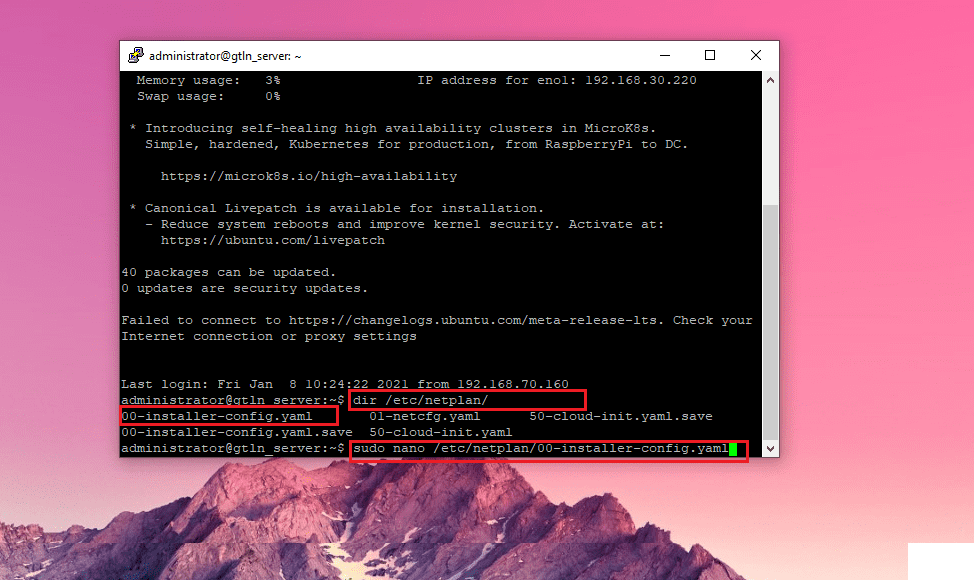 Cara Konfigurasi Ip Static Linux Ubuntu Server 18.04