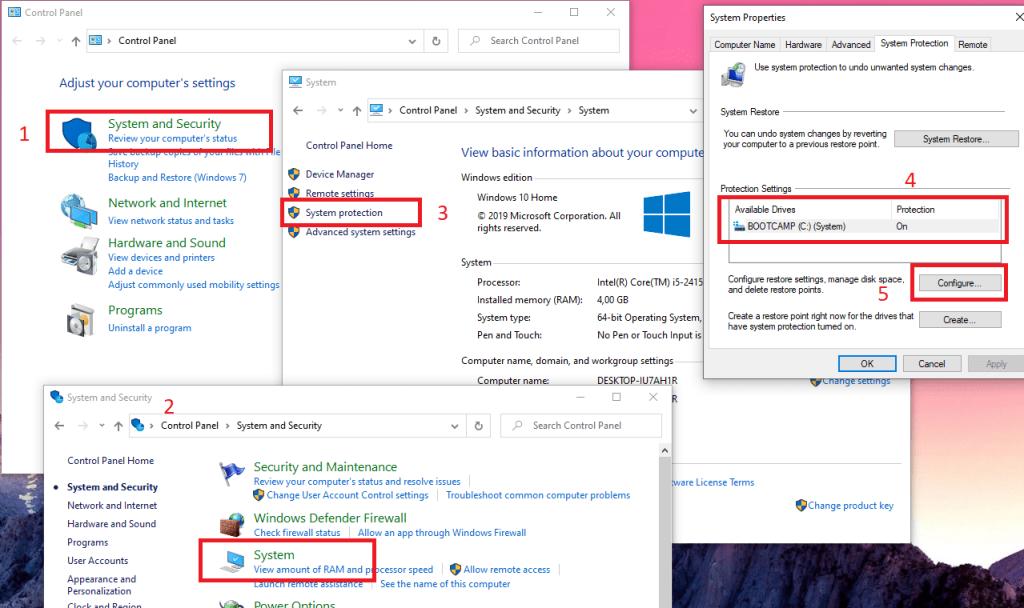 Cara Mengaktifkan Enable System Restore Point Windows 10