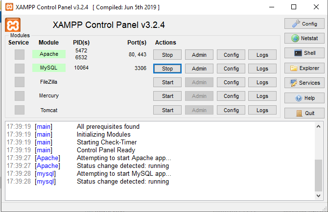 Cara Menjalankan Apache dan MySQL di XAMPP