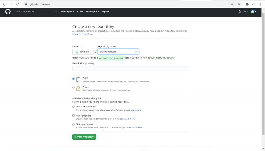 cara membuat repository github